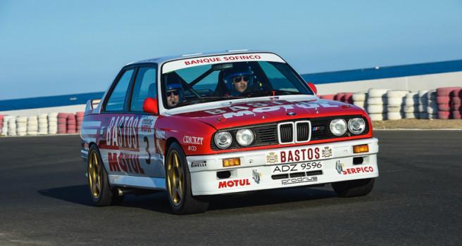 El BMW M-3 'Bastos-Motul' ex Bernard Béguin, de test en Maspalomas