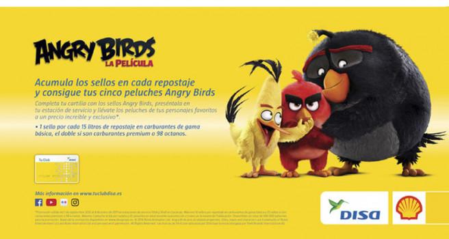 DISA Y SHELL, colorido 'Angry Birds' en las Estaciones de Servicio