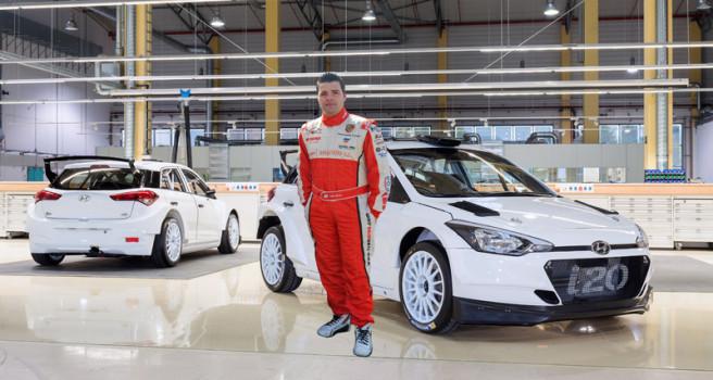 Iván Ares con Hyundai i20 R5 en él CERA-2017