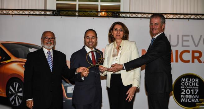 """Nissan Micra recibe el premio """"MEJOR COCHE DE CANARIAS 2017"""""""