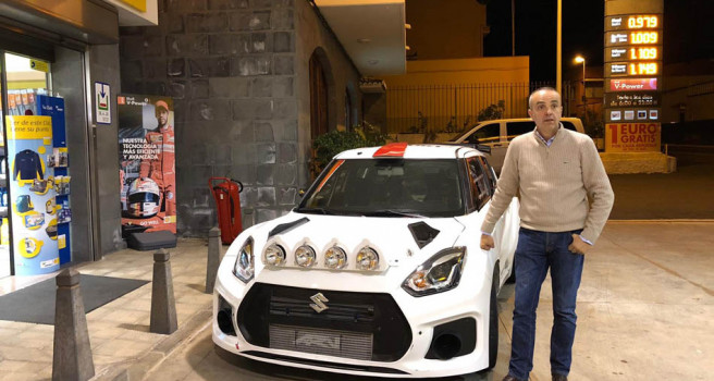 Manolo Mesa ya tiene el Suzuki Swift N5 R+ en Tenerife