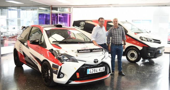 Antonio Estalella ilusionado con su nuevo Toyota Yaris GRMN N3