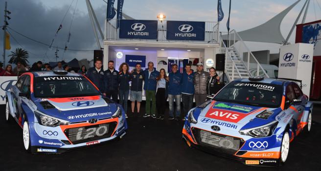 Hyundai Canarias presentó su potente escuadra con los i20 R5
