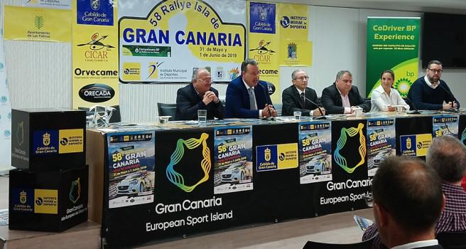 Rally Isla de Gran Canaria. Toñi, Armas, Quintana, Ponce y Benítez