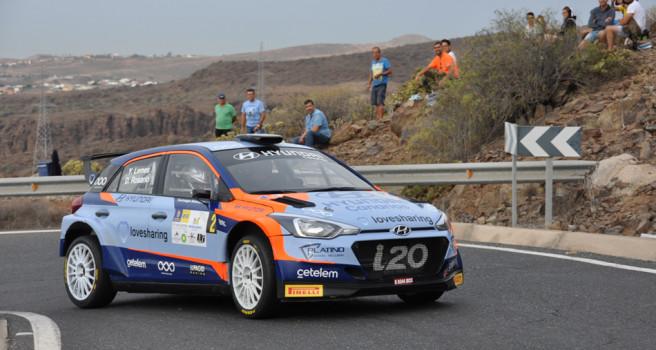 Yeray Lemes y Dani Rosario victoria 'Plus' en el Rally de Maspalomas