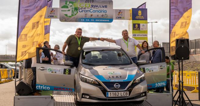Nissan Canarias y el LEAF 100% eléctrico, acaban quinto en el ECO-Rally