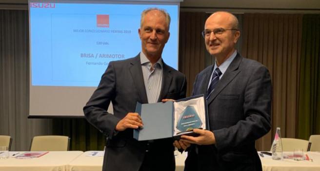 Brisa Motor galardonado como 'Mejor Concesionario Isuzu en España'
