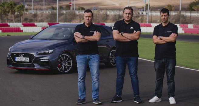 Hyundai Canaria con Ángel Bello, Yeray Lemes y Toñi Ponce, en 2020