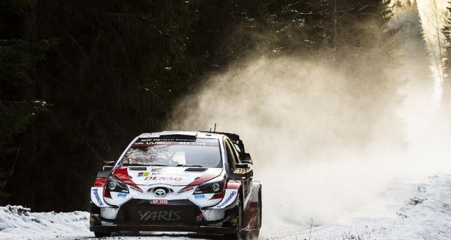 Elfyn Evans lidera el Rally de Suecia al término de la primera etapa