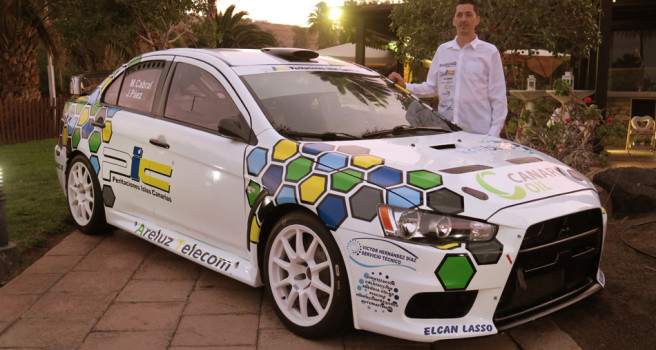Miguel Cabral luce nuevos colores en su Mitsubishi EVO-X