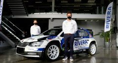 Miguel Suárez y Dani Sosa presentan el look de su Skoda Fabia R5